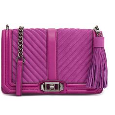 Rebecca Minkoff Purple Rain Love Crossbody With Tassel (11.110 RUB) ❤ liked on Polyvore featuring bags, handbags, shoulder bags, purple, leather crossbody handbags, leather crossbody purse, leather cross body purse, crossbody handbags and crossbody purses