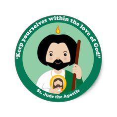 St. Jude the Apostle Classic Round Sticker