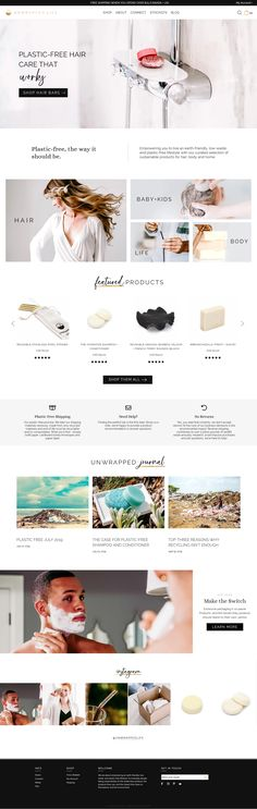 Shopify Plus website design for Unwrapped Life. Every page is custom coded and optimized for experience and sales. Gorgeous shampoo and conditioner bars for a low-waste and plastic-free lifestyle!
