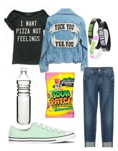 """""""Untitled #387"""" by pyper-77 ❤ liked on Polyvore featuring 7 For All Mankind, Converse and Dot & Bo"""