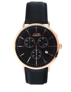 Lachlann Första LF-03 Black Strap Chronograph, Omega Watch, Watches, Brown, Leather, Accessories, Collection, Black, Style