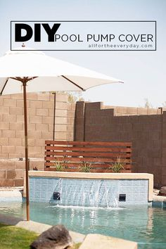 Pool Pump Shed Ideas pool pump house shed plans completed Diy Pool Pump Cover Before After
