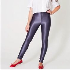 American apparel disco pants Silver or gray. Small scuff on one ankle great condition! American Apparel Pants