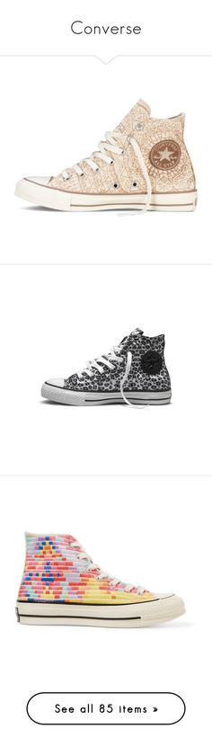 """""""Converse"""" by laurie-1994 ❤ liked on Polyvore featuring shoes, sneakers, converse, glamorous shoes, yellow gold shoes, gold sparkly shoes, glitter sneakers, gold trainers, all star and sapatos"""