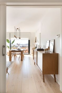 House Tour: A Modern, Bright Barcelona Apartment Living Room Inspiration, Design Inspiration, Barcelona Apartment, Spanish House, White Decor, Beautiful Space, Architecture, House Tours, Kitchen Remodel
