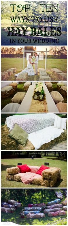 Ways to use hay bales at your wedding - not sure I'm going to have an out door wedding but I am a country girl at heart