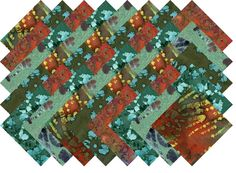 "BATIK VARIETY #13 COLLECTION 40 Precut 5"" QUILTING FABRIC SQUARES #MDG"
