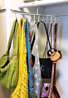 How to organize your purses - lots of ideas!