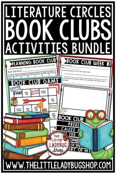 Grow your readers with this complete Book Club Activities Bundle! It has everything you need to get your students started on literature circles! From Flip Books, to Games this Bundle is jammed packed! This an exciting and educational way for your students to grow as readers in your class! I have used this Book Club 3rd grade, 4th grade, & 5th grade students! #bookclubactivities #novelstudies