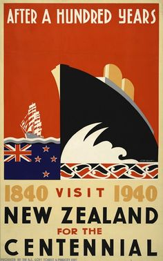 Art Deco Poster | Produced by the New Zealand Government Tourist and Publicity Department