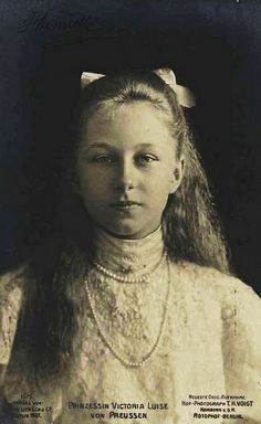 Princess Viktoria Luise of Prussia (Kaiser Wilhelm II's only daughter and youngest child)