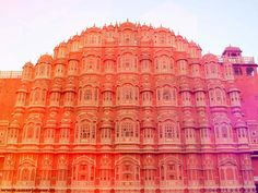 Hawa mahal built in 1799 by sawai pratap singh architecure of palace is dedicated to lord krishna it have 953 windows. it is situated in the center of jaipur.