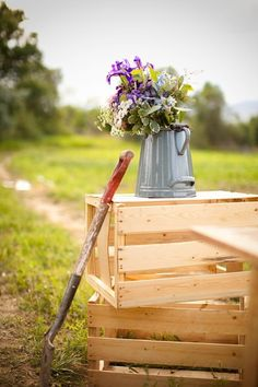 Great for a country themed wedding.  Would look so pretty on the tables with wildflowers.