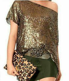 Tarde-noche   verde ,oro &  leopard
