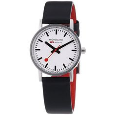 Women's Wrist Watches - Mondaine Womens A6583032311SBB Quartz Classic Leather Band Watch >>> You can find more details by visiting the image link. (This is an Amazon affiliate link)