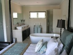 Industrial Loft Apartment In Kiev Sunset Beach Villa Houses For - Open plan bedroom and bathroom designs