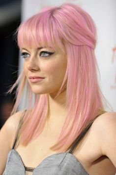 Emma Stone Looks Fantastic Using Manic Panic Cotton Candy With Pastel-izer!! Copy The Style... All Products Available At www.bluebanana.com Now!