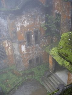In the French ghost town of Bokor Hill Station, Cambodia. http://en.wikipedia.org/wiki/Bokor_Hill_Station