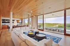 Lovely Open Space Living Room Overlooking the Atlantic Ocean: Breathtaking Beach House by Aamodt Plumb Architects