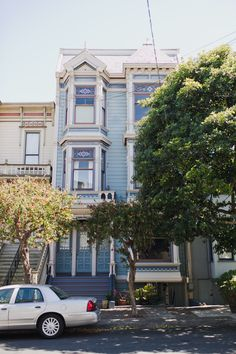 Duboce Triangle, Stick Eastlake. Featuring two bay window styles and mansard roof.