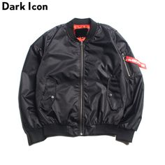 Solid Color Men's Bomber Jackets Thin Style 2017 Spring Pocket on Sleeve Pilot Jackets Men Blank Hip Hop Jacket Men's Clothing -*- AliExpress Affiliate's buyable pin. Details on product can be viewed on www.aliexpress.com by clicking the image