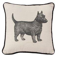 Natural terrier print cushion - So cute!