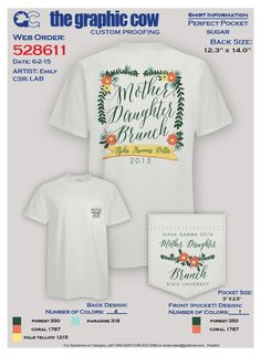 Alpha Gamma Delta Mother Daughter brunch floral shirt on Perfect Pocket Sugar - a Grafcow exclusive!