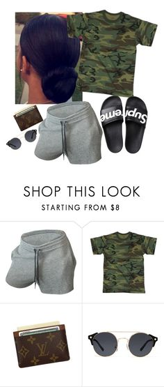 """""""7.13.17"""" by loveaaliyahh ❤ liked on Polyvore featuring Louis Vuitton and A.J. Morgan"""