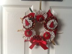 Christmas Wreath made with yo yos