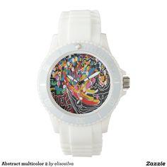 Abstract multicolor 2 reloj de mano