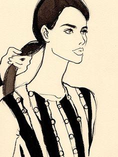 Mugler's 2016 resort collection - Regina Yazdi illustration