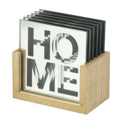 S Mirror Coaster - HOME