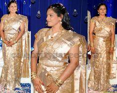 Bride with Cut Work Silk Saree