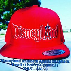 """""""BUY IT NOW"""".. ONLY -- $36.75 ... New DISNEYLAND FANS / MLB ANAHIEM ANGELS FANS """"SNAPBACK HATS"""".... TO GET YOURS TODAY PLEASE EMAIL ME AT : ( hotfry97@gmail ) ..... GREAT WAY TO SHOW YOUR A """"BIG FAN OF BOTH"""" Disneyland and Anahiem Angels .....  #Disneylan"""