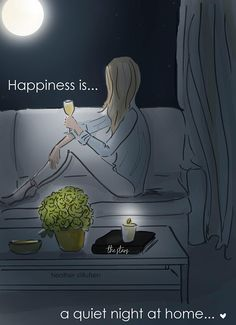 Happiness is A Quiet Night at Home - Heather Stillufsen - .- Happiness is A Quiet Night at Home – Heather Stillufsen – Wall Art for Women Happiness is a quiet night at Heather Stillufsen - Art Mural, Wall Art, Mural Wall, Night Quotes, Morning Quotes, Cute Quotes, Funny Quotes, Woman Quotes, Quotes Girls