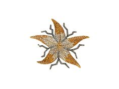 Brooches – Georg Hornemann STARFISCH yellow gold, silver, diamonds and tsavorites, 7 cm x 6 cm, 2002