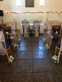 Wedding at Ufton Court dressed by Simply Bows and Chair Covers