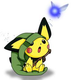 Pichu as kid Link, pikachu as teen link, raichu as adult link?