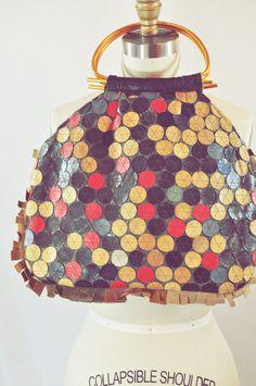 vintage leather pinwheel bag....how cute is this?