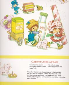 SSC 1983 Sweet Treats Calendar - March Strawberry Shortcake Characters, Strawberry Shortcake Recipes, Vintage Strawberry Shortcake, Strawberry Fields, Custard Cookies, Little Pony, Cute Little Girls, Peppermint Sticks, Animal Crackers
