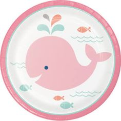 pink whale party goods - Google Search