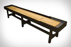 With a sleek design and tons of custom options, McClure's Contempo Shuffleboard Tables are a thing of beauty, but the pro-level gameplay is what really stands out. Crafted entirely by hand, every Contempo table is built in Grand Rapids, Michigan...