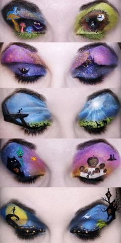 Disney inspired makeup.