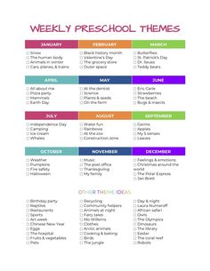 100+ Weekly preschool themes — The Organized Mom Life