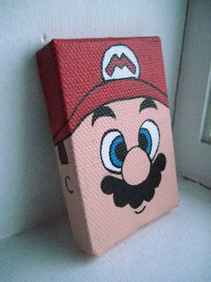 Alex Jordon would LOVE this...and i know he could paint it...he did several Mario pics in Art class @ school...