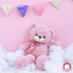 Chúc mọi người tuần mới ngọt ngào như bé #Teddy màu hường này nhé   Size 60cm - 330k -30% 231k  0932793907  416/15/85A Dương Quảng Hàm P.5 Gò Vấp #hcm #gaubong #teddy #pink #cute