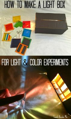 How to make a light box for color and light experiments. This is a great STEM / STEAM education project.