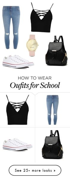 """For school"" by loulou2347 on Polyvore featuring Dorothy Perkins, Boohoo, Converse and Nine West"