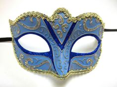 Blue-Silver-Gold-Small-Child-Ornate-Masquerade-Mask
