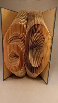 60 - Egyedi számos hajtogatott könyv origami - születésnapra - évfordulóra - két karakter